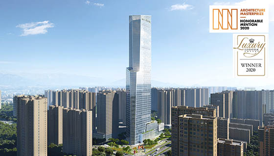 Xi'An Vanke Center has been double crowned as Best Tall Building